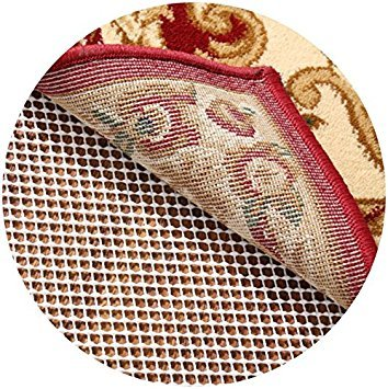 RHF Non-Slip Area Rug Pad Round 4' - Protect Floors While Securing Rug and Making Vacuuming Easier Round ()