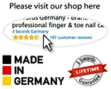 3 Swords Germany - brand quality double sided (fine & coarse) SAPPHIRE POCKET NAIL FILE manicure pedicure grooming for professional finger & toe nail care by 3 Swords, Made in Solingen Germany