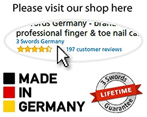 3 Swords Germany - brand quality 6 piece manicure pedicure kit set - stainless steel nail care tools - Made in Solingen Germany (500)
