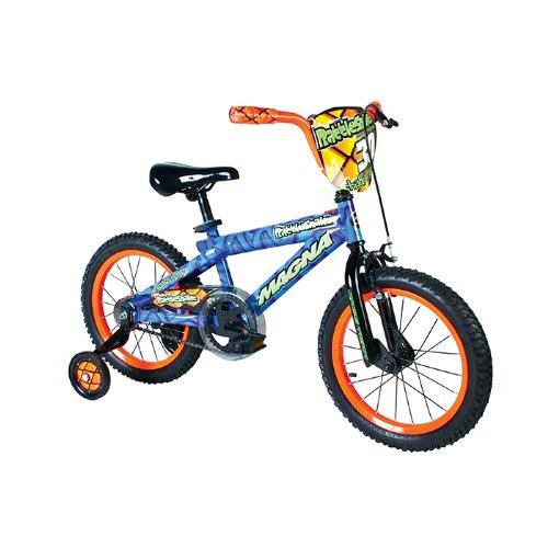UPC 087876053057, Dynacraft Boy's Magna Rattle Snake Bike (Blue/Orange, 16-Inch)