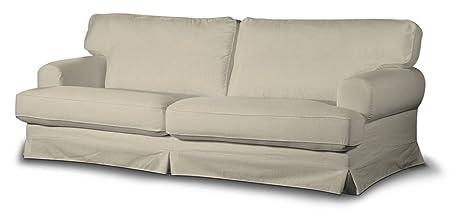 Dekoria Fire Retarding Ikea Ekeskog Sofa Bed Cover   Beige Finely Ribbed  Corduroy