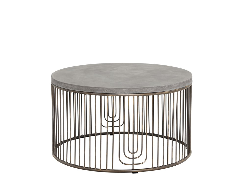 Sunpan Modern 101372 Solterra Coffee Tables, Grey - Collection: solterra by Sunpan Main Color: Grey 1 year manufacture - living-room-furniture, living-room, coffee-tables - 51sG4Fjb1EL -