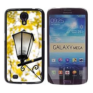 TopCaseStore / la caja del caucho duro de la cubierta de protección de la piel - Fall Yellow Street Lamp Romantic - Samsung Galaxy Mega 6.3 I9200 SGH-i527