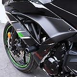 2017-2018 Kawasaki Ninja 650, 2017-2018 Kawasaki Z650 Black No Cut Frame Sliders 750-4519 - MADE IN THE USA