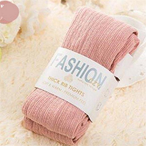 Corrugated Twist - Rurah Corrugated Twist Knit Elastic Thin Warm Leggings Stockings Style Tights Socks,purple,Pink