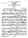 Reger : Quartett, A moll, fur Violine, Bratsche, Violoncell und Klavier : opus 133