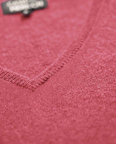 Pullover Virtuale Sweater A Con xxl xs V Donna Maglione Rosa Scollo Da 100 Cachemire rrnHqFgw