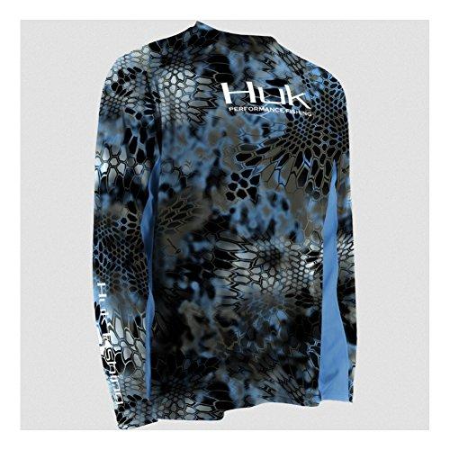 HUK H1200023NEPL Huk Kryptek Icon Long Sleeve Shirt, Neptune, Large