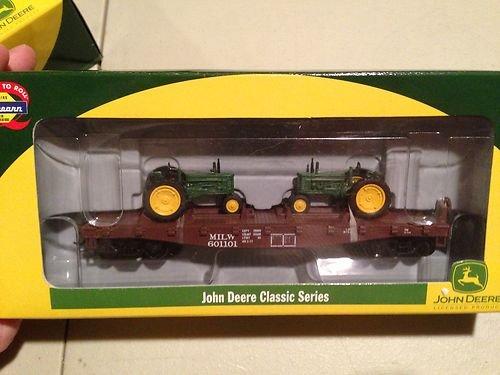 Athearn HO Train John Deere 40' Flat Car with Model B Tractors #8151 Milwaukee