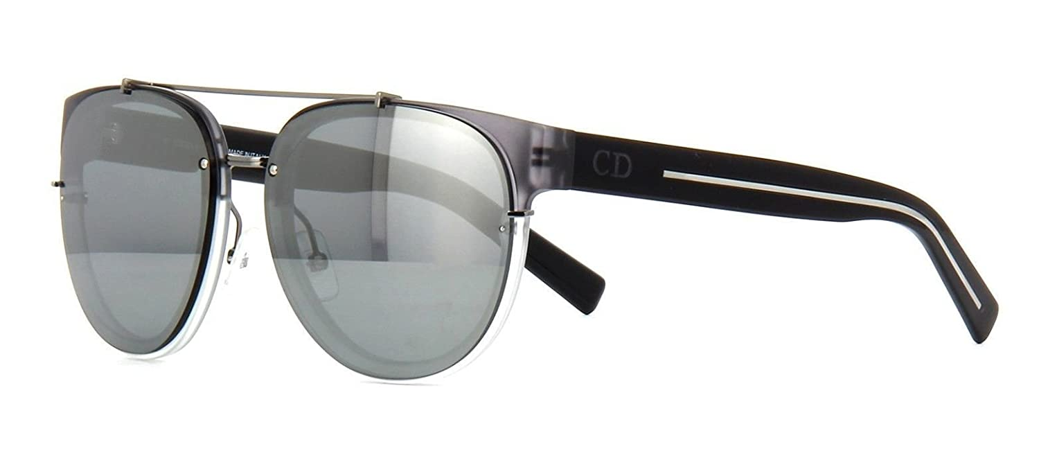 518c559e94 New Christian Dior BLACK TIE 143S HEAT4 matte grey black dark grey mirror  Sunglasses  Amazon.co.uk  Clothing