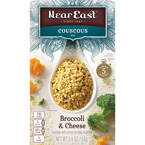 Near East Couscous Mix, Broccoli & Cheese 5.4oz.(Pack of 12) by Quaker