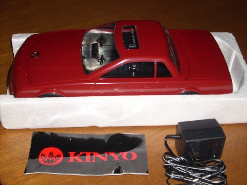 NEW IN BOX - Rare maroon and black sedan with sunroof and gold hood emblem - KINYO VHS Video Cassette AutoWinder AW-600A - Car approx 12