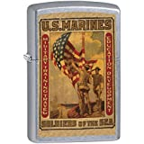 Zippo Lighter: Military Poster, US Marines Soldiers of the Sea - Street Chrome 79362