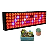 Exmate 300W LED Grow Light Full Spectrum Lights Bulb for Indoor Plant Growing Lamp with UV and IR for Greenhouse, Vegetative, Succulents,Hydroponic, Seedlings and Flowering Black Review