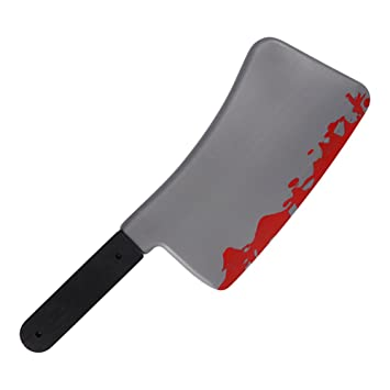 Takestop® Cuchillo Carnicero insanguinato 43 cm arma Sangre ...