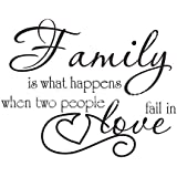 Dometool PVC Decal Quote Wallpaper Wall Sticker - Family - 18 x 24inch