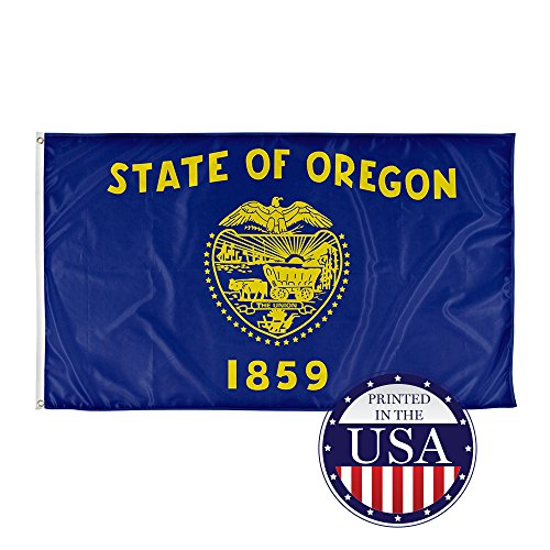 Vispronet - Oregon State Flag - 5ft x 3ft Knitted Polyester, State Flag Collection, Made in the USA (Flag - Oregon In Shop Made