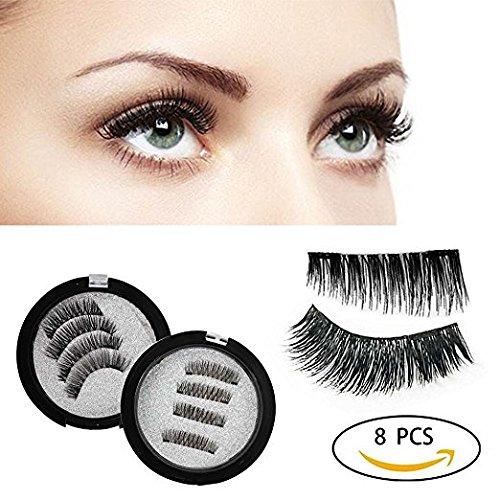 3e0b9a3c13c Reusable False Magnetic Eyelashes - Black Homemade, No Glue, Magic 3D,  Natural Wispy