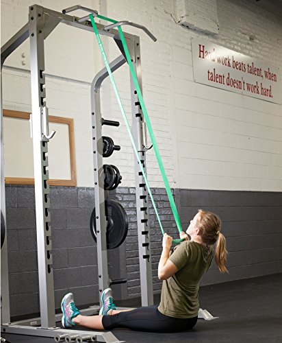 Serious Steel Fitness Green - #4 Average Pull-Up Assist & Stretching Resistance Band (Size: 1.75'' W, Resistance: 50-120lbs.) Pull-Up and Starter Band e-Guide Included by Serious Steel Fitness (Image #7)