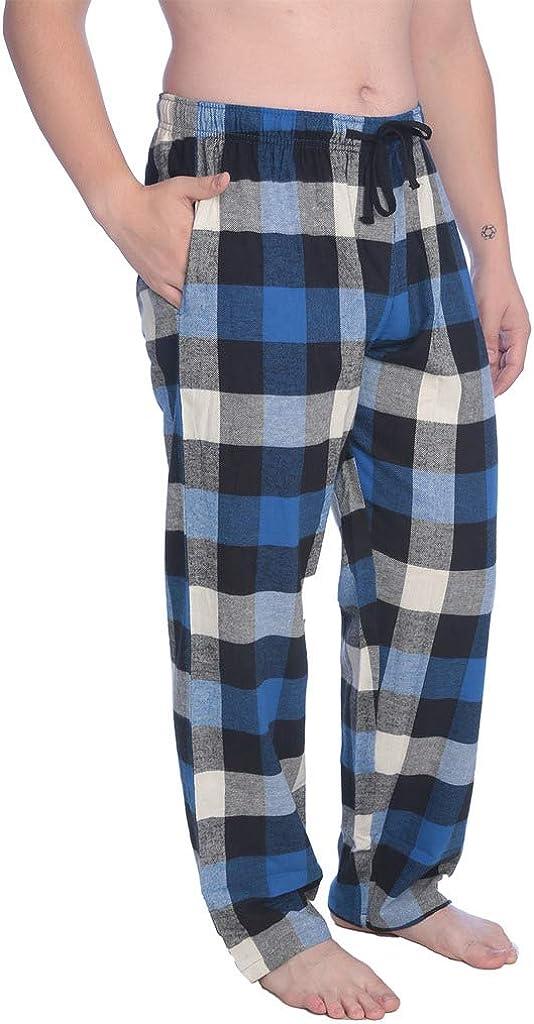 Beverly Rock Men's 100% Cotton Flannel Plaid Lounge PantsAvailable in Plus Size
