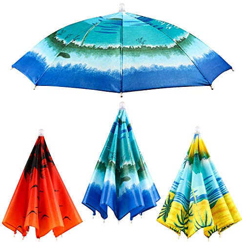 Syhood 3 Pieces Coconut Trees Hats Colorful Fishing Cap Beach Umbrella Headband in]()
