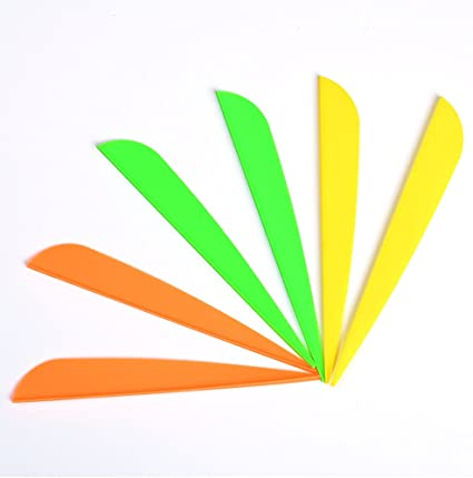 100 Pcs 3 inch Plastic Arrow Vane Fletching for DIY Arrow Archery Bow Yellow