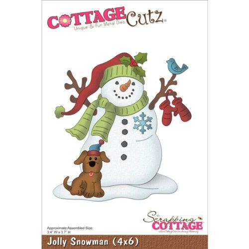 CottageCutz Scrapping Cottage Jolly Snowman
