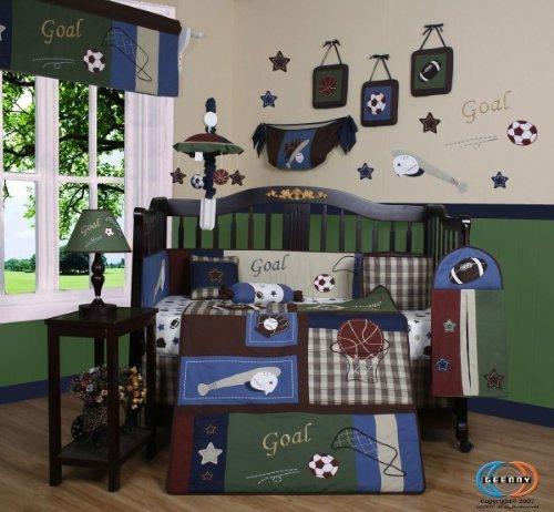 GEENNY 13 Piece Crib Bedding Set, Classic Sports