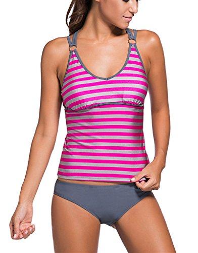 Sidefeel Tribal Printed Tankini Swimsuit