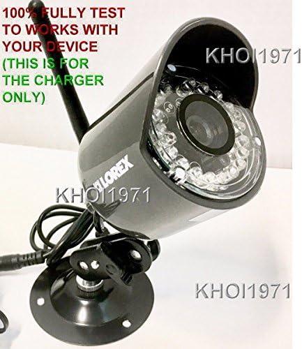 KHOI1971 4-FEET Wall AC Power Adapter for Black White LOREX LW3211 LW2110 Wireless Security Camera