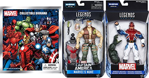 Legends Marvel Action Figure Captain Britain Energized Emissaries & Nuke 2-Pack + Bonus Blind Bag Mini Diorama Super Character Mystery Collectible