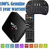 MXIII MX3 Smart Android 4.4 Quad Core 2G/8G XBMC 4k TV Box - 3D-HD Blu-ray Streaming Media Player Dual 2.4/5GHz WiFi Bluetooth DLNA Airplay - All in one Entertainment System with I8 Keyboard