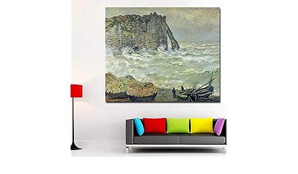 RTCKF Cartel de Arte Abstracto mar Paisaje Monet Pintura al ...