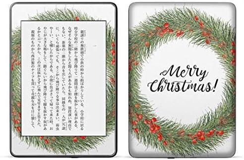 igsticker kindle paperwhite 第4世代 専用スキンシール キンドル ペーパーホワイト タブレット 電子書籍 裏表2枚セット カバー 保護 フィルム ステッカー 016392 クリスマス リース