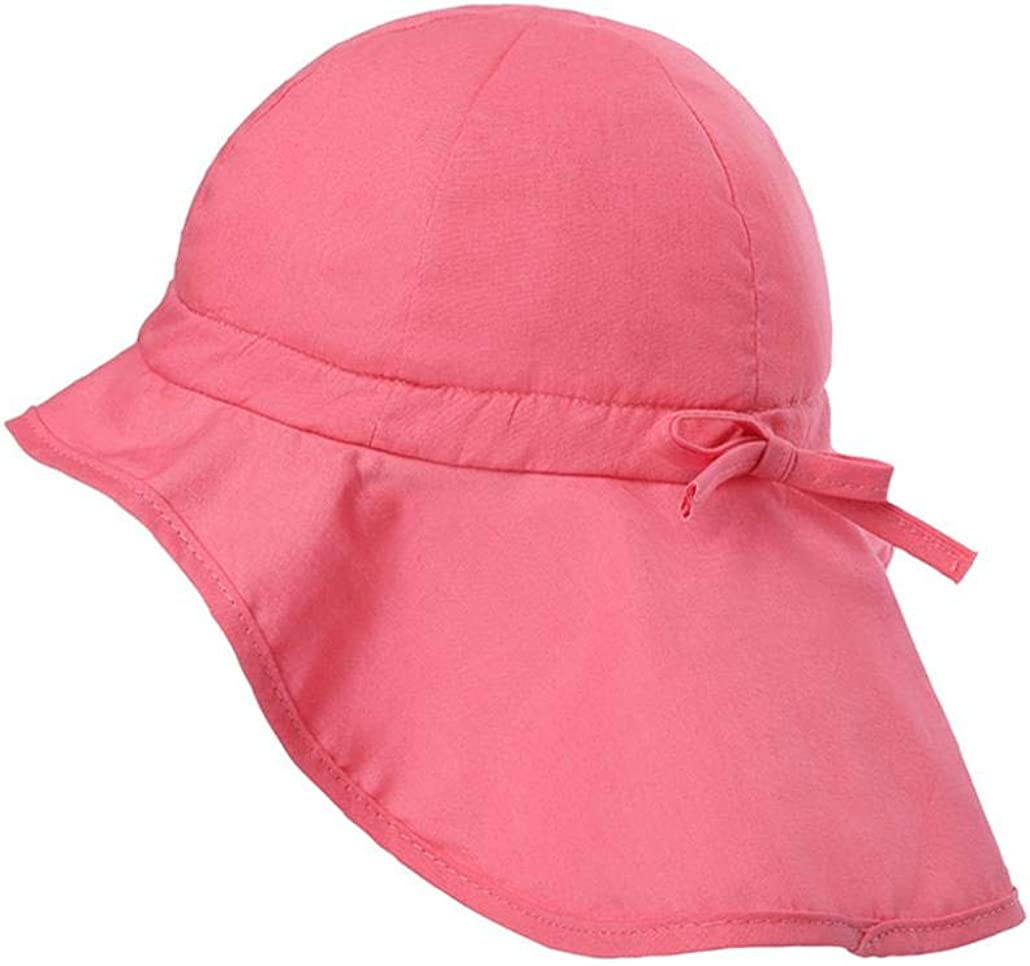 Drawstring Adjustable Stay-On Lovely Sun Protection Caps iClosam Unisex Packable Baby Toddler Soft Breathable Cotton Cute Sun Hats