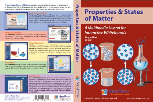 Grade 6-10 Single User License NewPath Learning Properties and States of Matter Multimedia Lesson