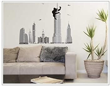 Charming OneHouse Monkey The Pentagon City Mural Wall Sticker For Fashion Brief Home  Decorative Decor Part 22