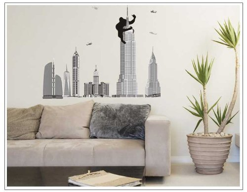 OneHouse Monkey the Pentagon City Mural Wall Sticker for Fashion Brief Home Decorative - Fashion Pentagon City
