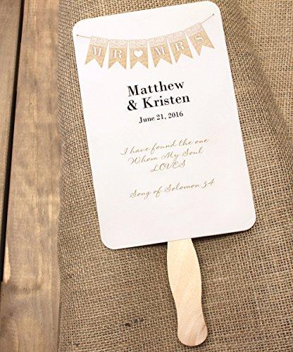 50 Natural Wavy Jumbo Wood Fan Handles Wedding Fan Sticks