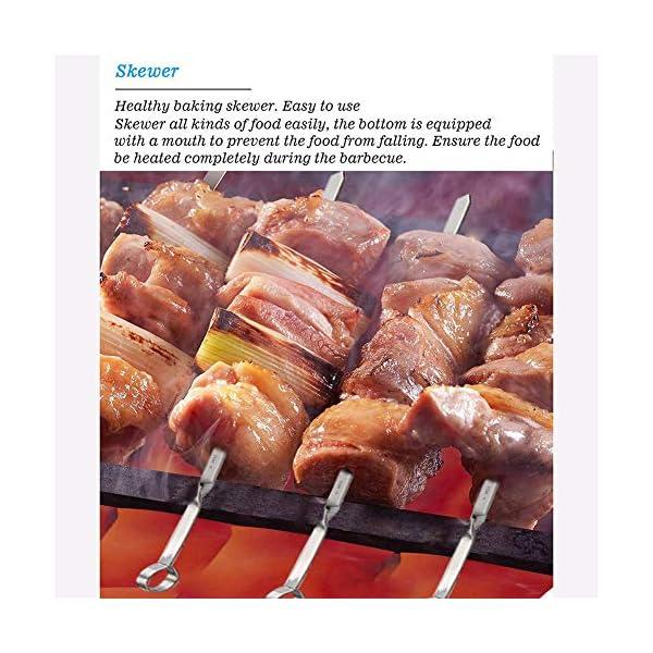 Set di Attrezzi per Barbecue in Acciaio Inox per Esterni - Accessori per Barbecue, Spazzola in Silicone per Rete, Set di… 2 spesavip