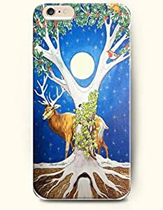 OOFIT Apple iPhone 6 case 4.7 inches - Merry Christmas Tree Deer And Moon Star