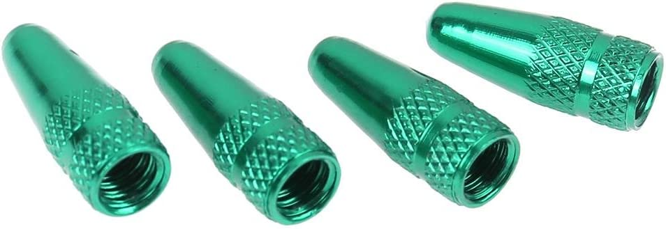 Green Domybest 5pcs Tire Stem Valve Caps Bicycle Presta High Aluminium Pressure Valve Caps Dust Covers