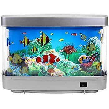 Amazon.com : Self Cleaning Plastic Fish Tank Desktop Aquarium Betta ...