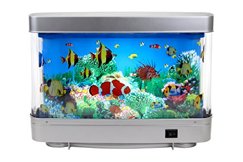 Aquarium Lighted Fish Tank - Lightahead Artificial Tropical Fish Aquarium Decorative Lamp Virtual Ocean in Motion (Marine Life A)