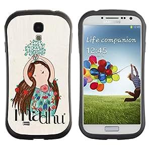 Suave TPU GEL Carcasa Funda Silicona Blando Estuche Caso de protección (para) Samsung Galaxy S4 I9500 / CECELL Phone case / / Drawing Floral Flowers Hand Drawn /