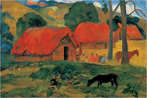 village-in-tahiti-art-print-poster-by-paul-gauguin