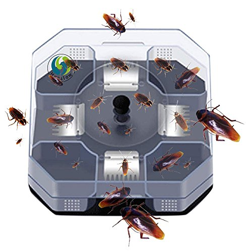 Henslow Patent Latest Invention Intelligent and Effective Cockroach Trap Capture All Kinds of Roaches Non-Toxic and Eco-Friendly.