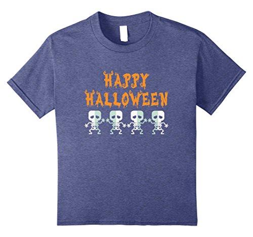 90's Hip Hop Girl Costume (Kids Dancing Dabbing Skeleton Hip Hop Funny Halloween Costume Tee 8 Heather Blue)