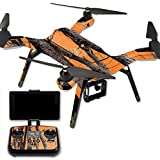 MightySkins Protective Vinyl Skin Decal for 3DR Solo Drone Quadcopter wrap cover sticker skins Orange Camo