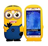 Anvika 3D Cute Minions Back Case Cover for Samsung Galaxy J2 Ace/J2 Prime